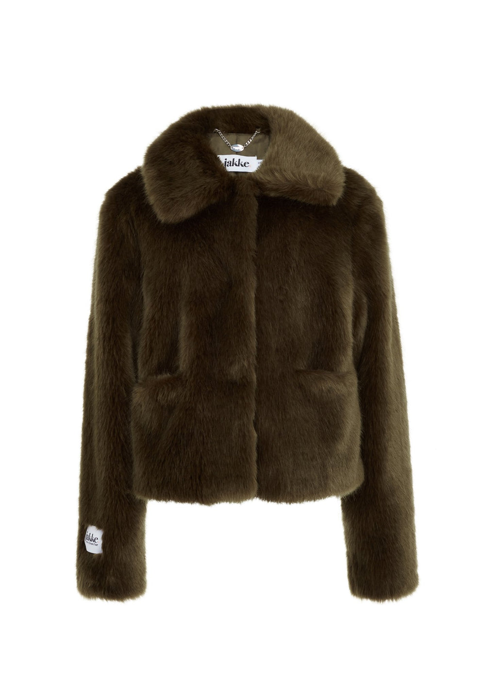 Rent Jakke Tommy Khaki Faux Fur Jacket from Rotaro