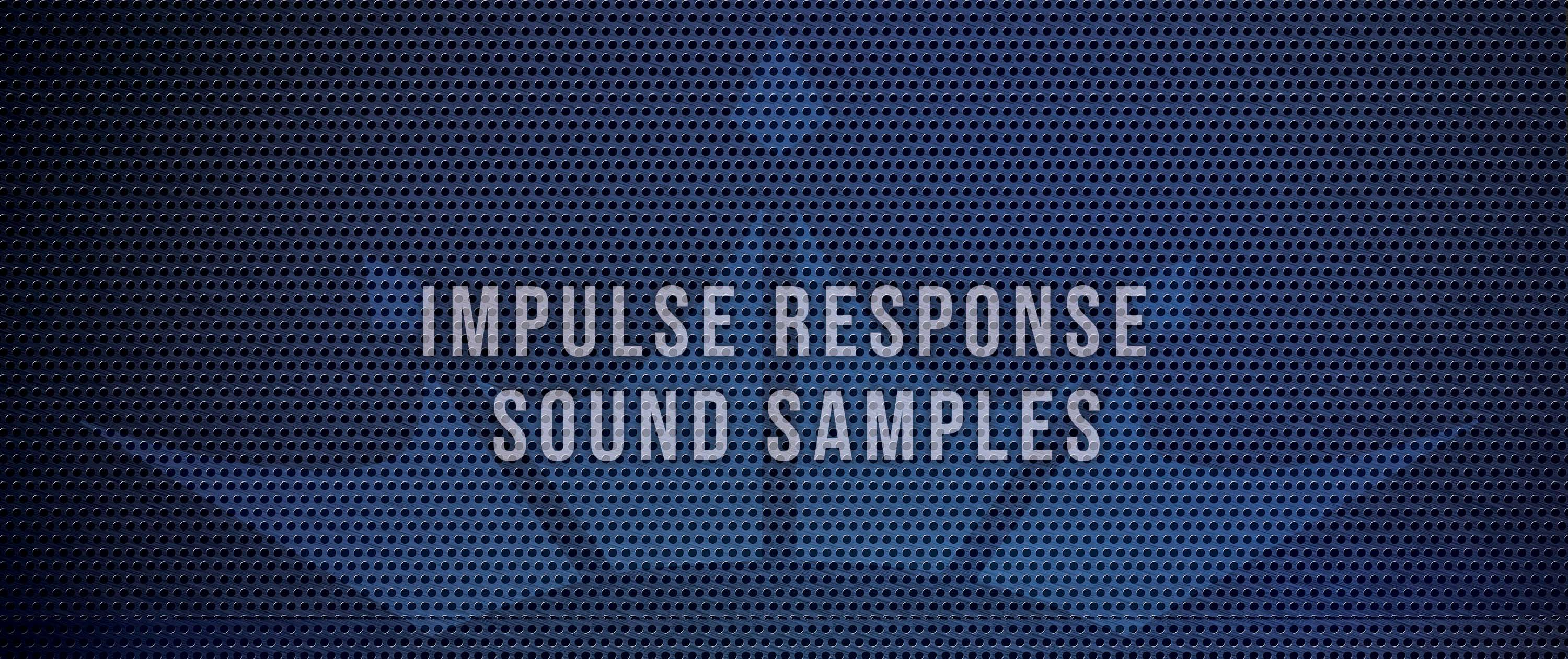 Eminence Speaker Impulse Response Sound Page Header