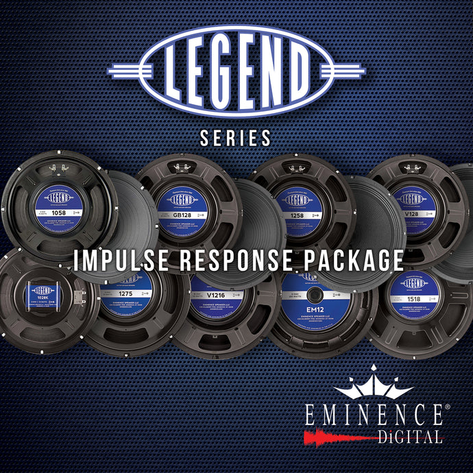 Eminence Legend Impulse Response Package - 10 Speakers, 70 IRs