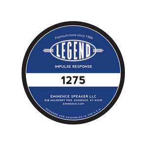 "LEGEND 1275 12"" Lead / Rhythm Guitar Speaker Impulse Response"