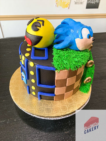 Pac-Man VS Sonic Cake