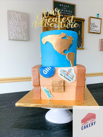 Our Greatest Adventure Baby Shower Cake