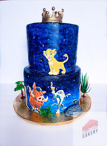 Two Tiered Lion King Cake