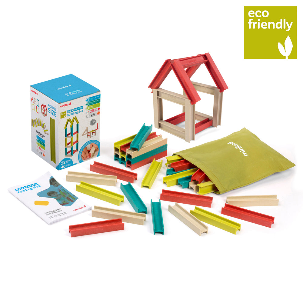 Eco Friendly Beams Building Set | Miniland