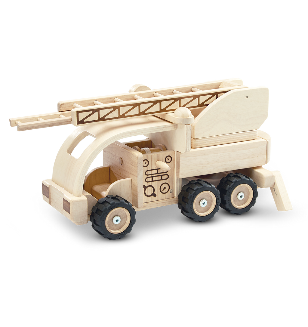 Plan Toys Fire Truck | Wooden Toy