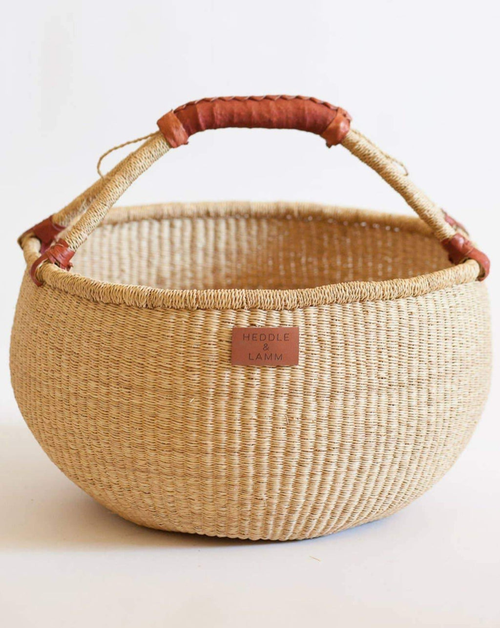Kandiga Bolga Basket  | Brown Handle