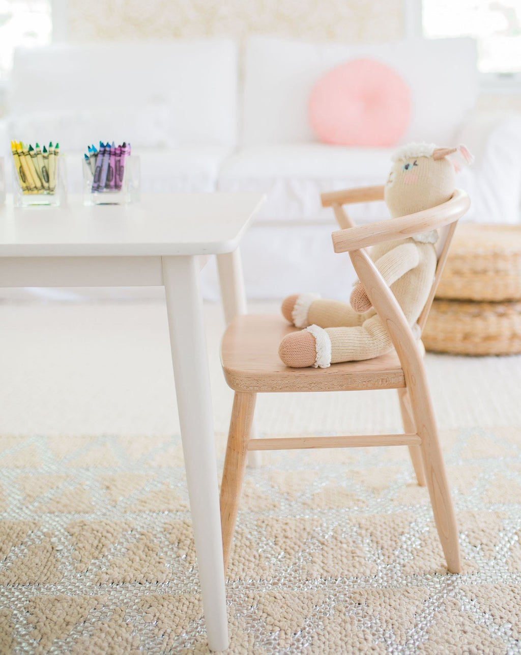 Crescent Chair - Pair - Natural | Milton & Goose Kids Furniture