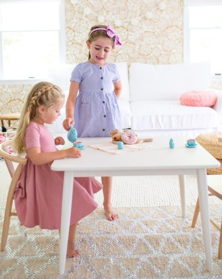 Crescent Table - White | Milton & Goose Kids Pretend Play Toys