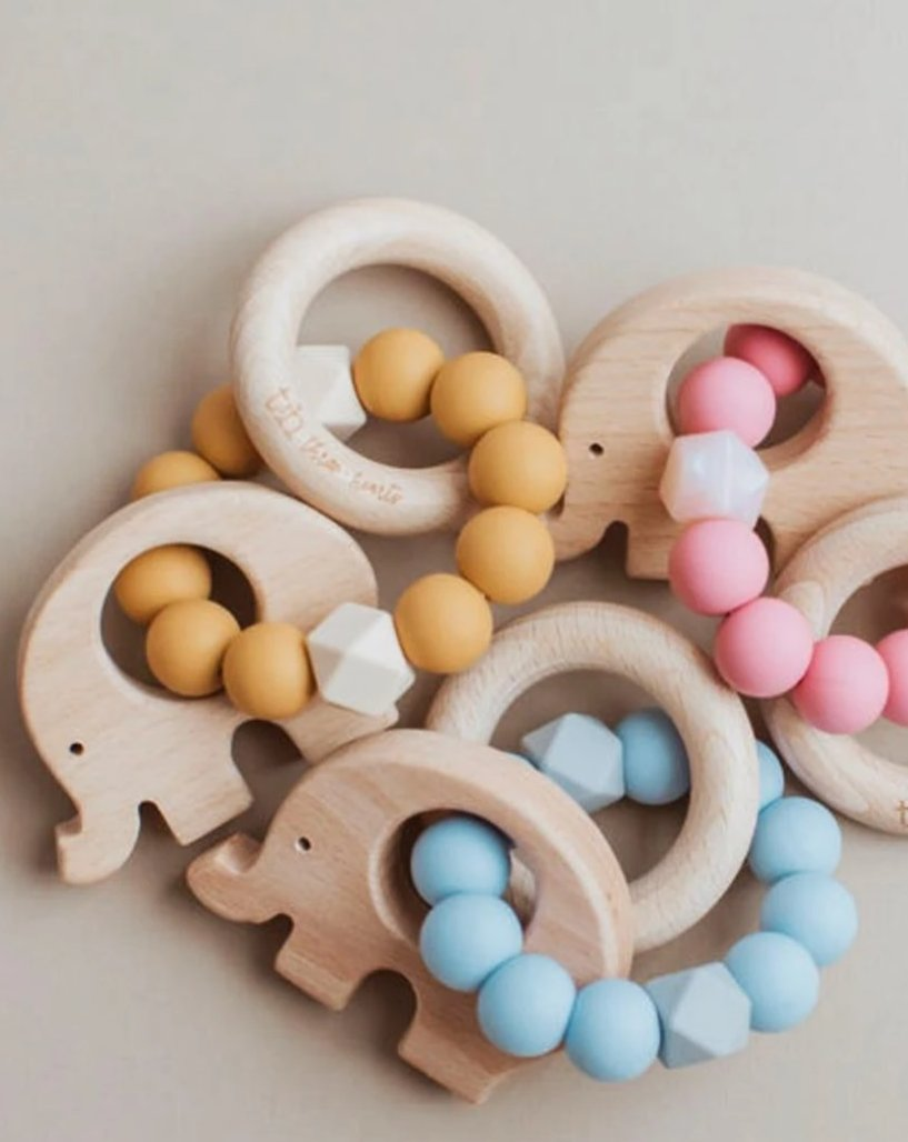 Elephant Teething Rattle