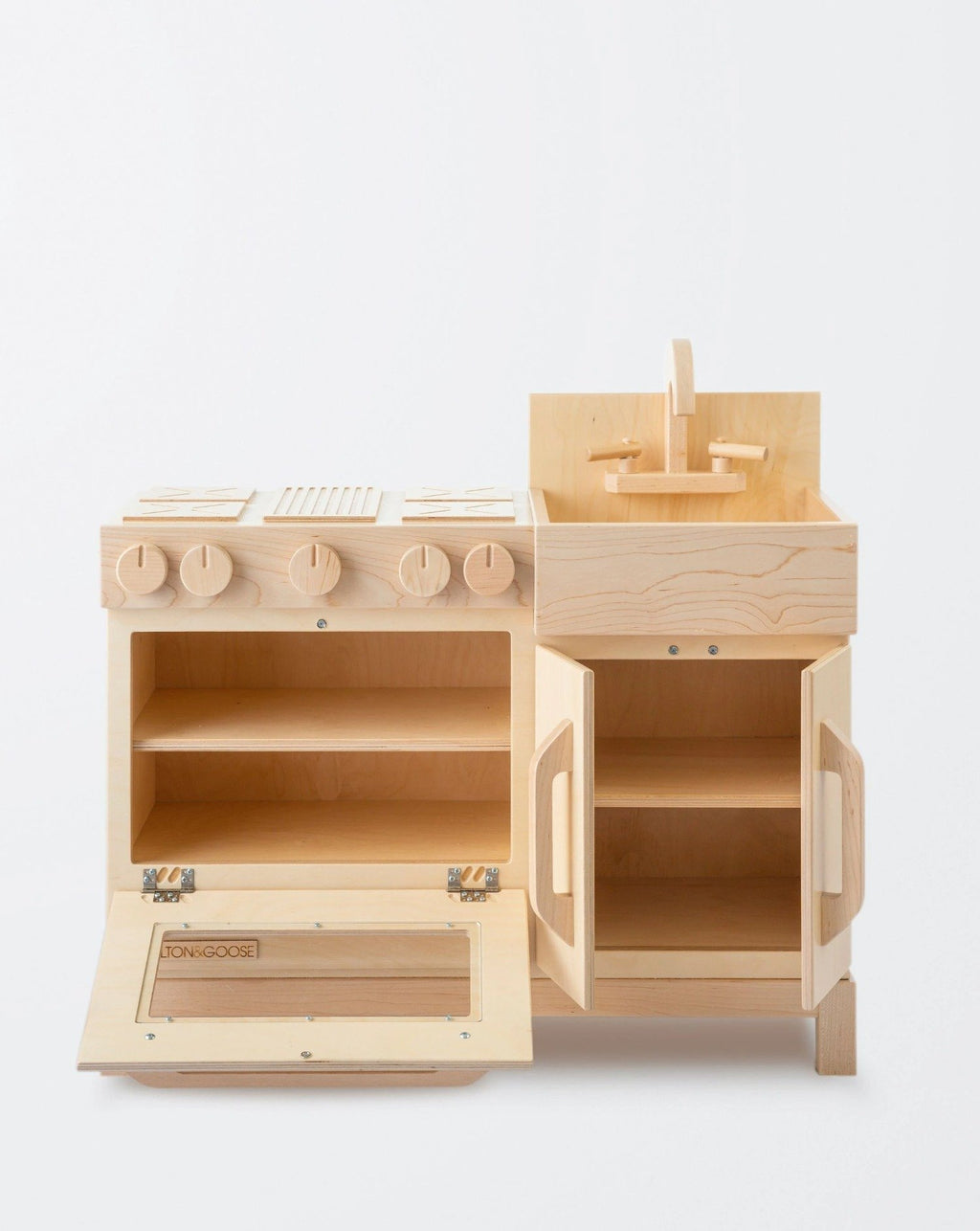 Essential Play Kitchen-Natural | Milton & Goose Kids Pretend Play Toys