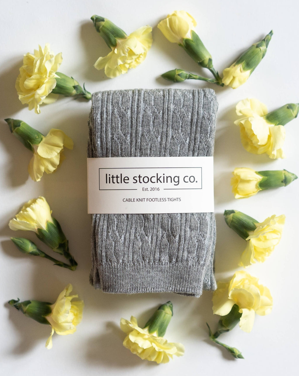 Little Stocking Co. Cable Knit Footless Tights