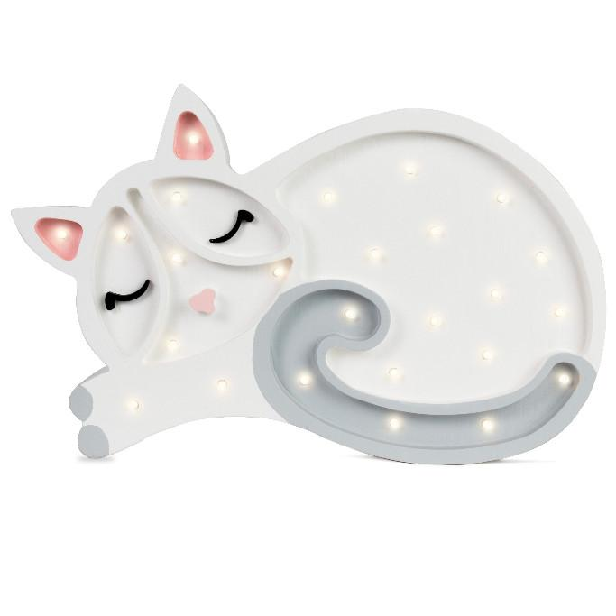 Kitten Lamp - White