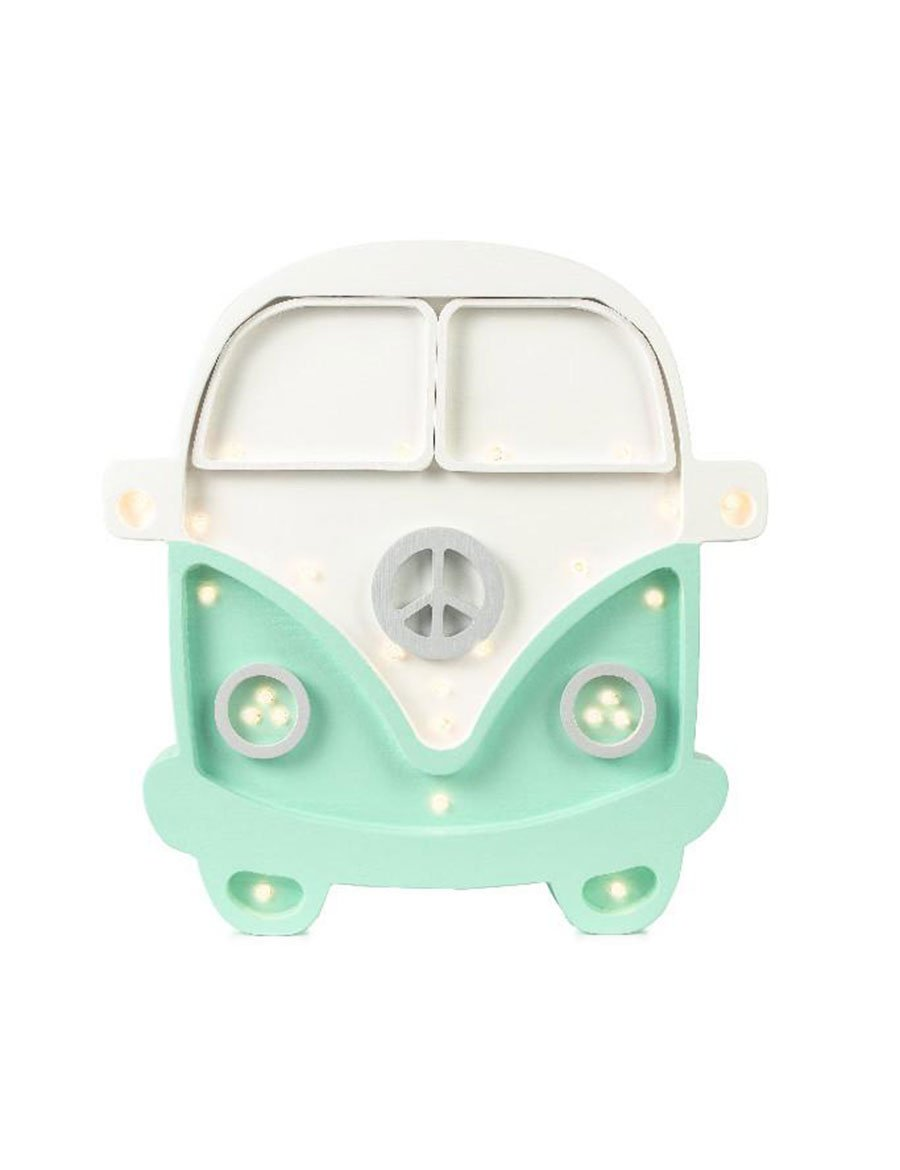 Little Lights Camper Van Lamp - White Mint