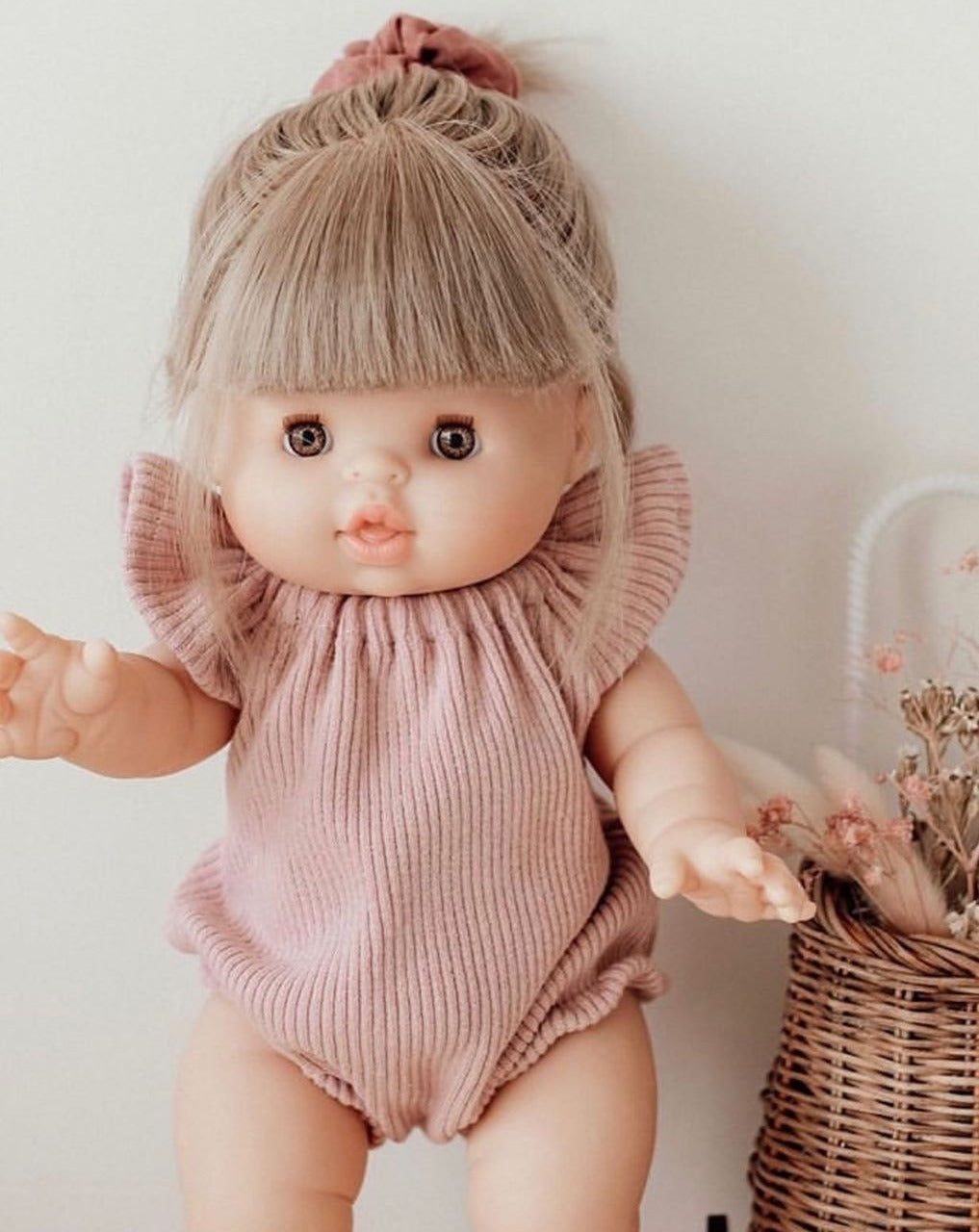 Minikane Zoe Dolls | Cute Babydolls for toddlers | Dolls with hair, anatomically correct babydolls.