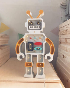 Robot Lamp - Mustard/Grey