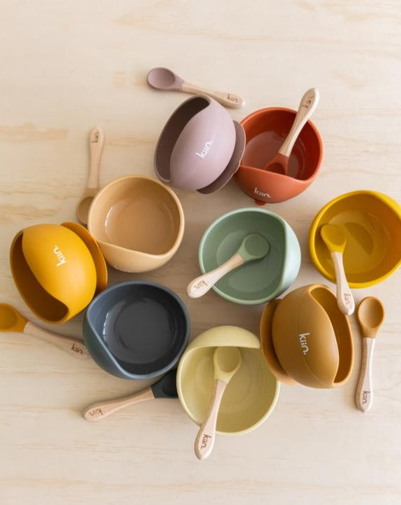 Silicone Bowl and Spoon set | Kiin Baby