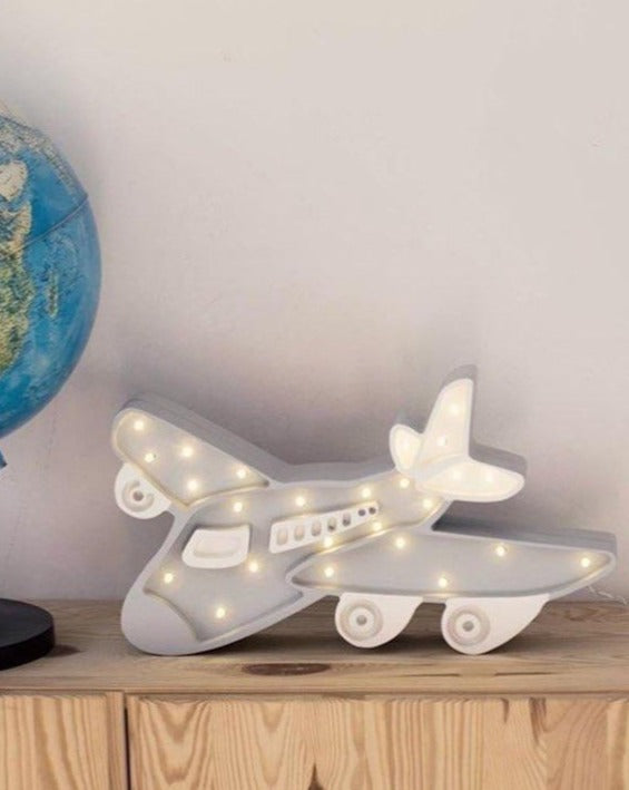 Airplane lamp wooden