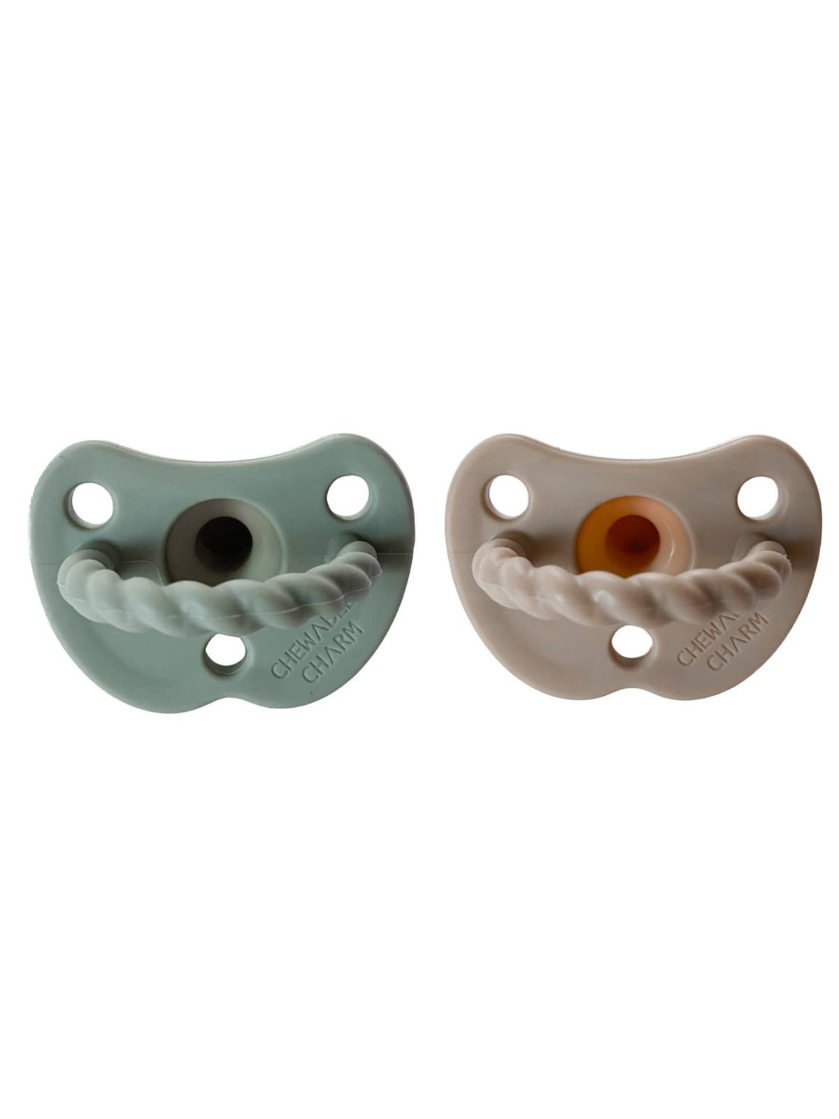 2 Pack Pacifier + Twirl | Sage + Almond