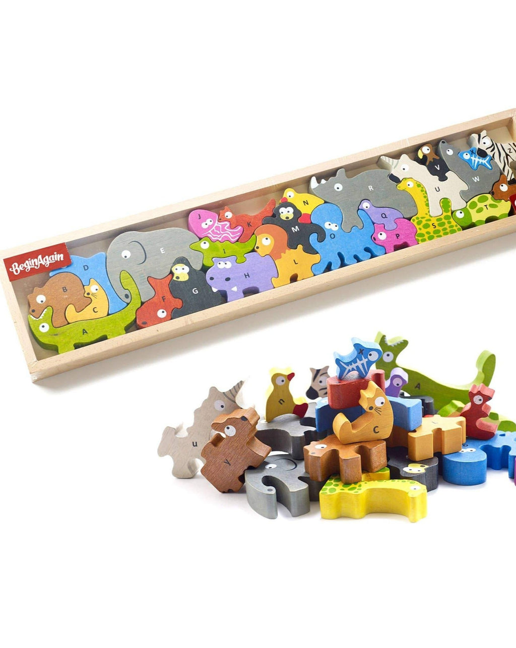 Animal Parade A to Z Puzzle | eco friendly wooden puzzle