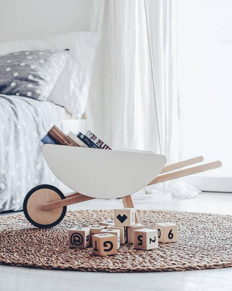 Wooden Toy Wheelbarrel - Wooden Toys for Toddlers | Modern & Minimal Toys