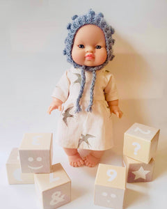 Minikane Asian Baby Doll Girl Blue Eyes