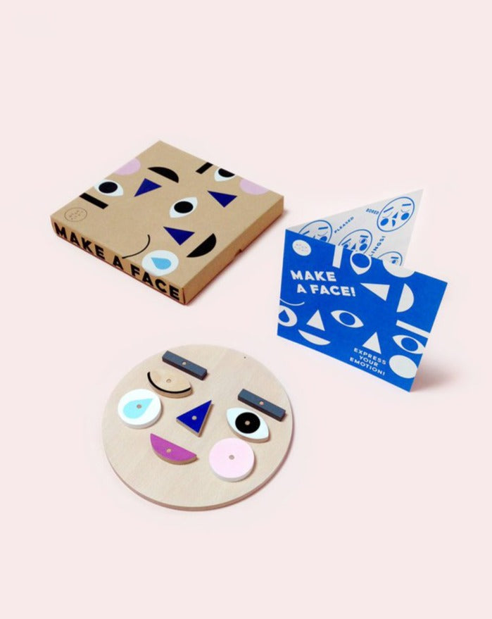 Make a Face Wooden Toy. Teach toddlers emotions through play.