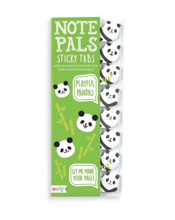 Note Pals Sticky Tabs Playful Pandas