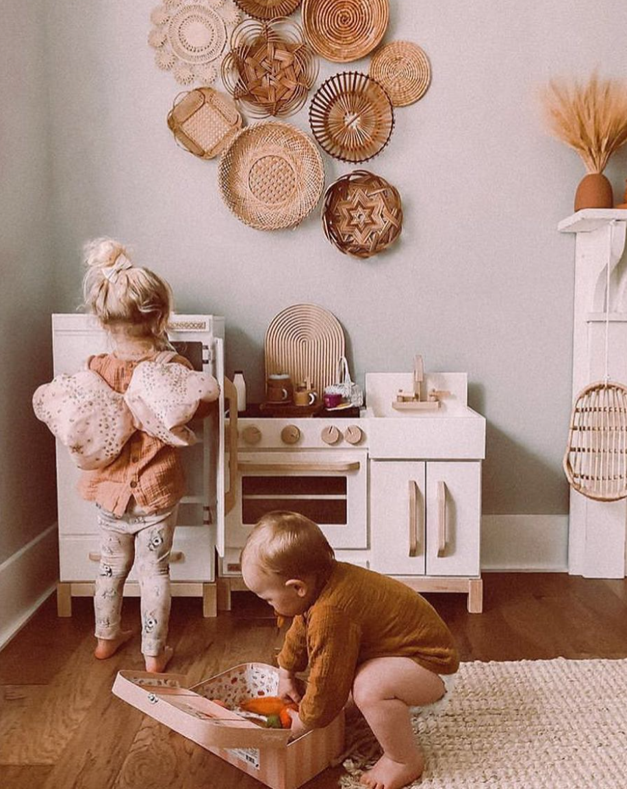 Toddler Wooden Play Kitchen