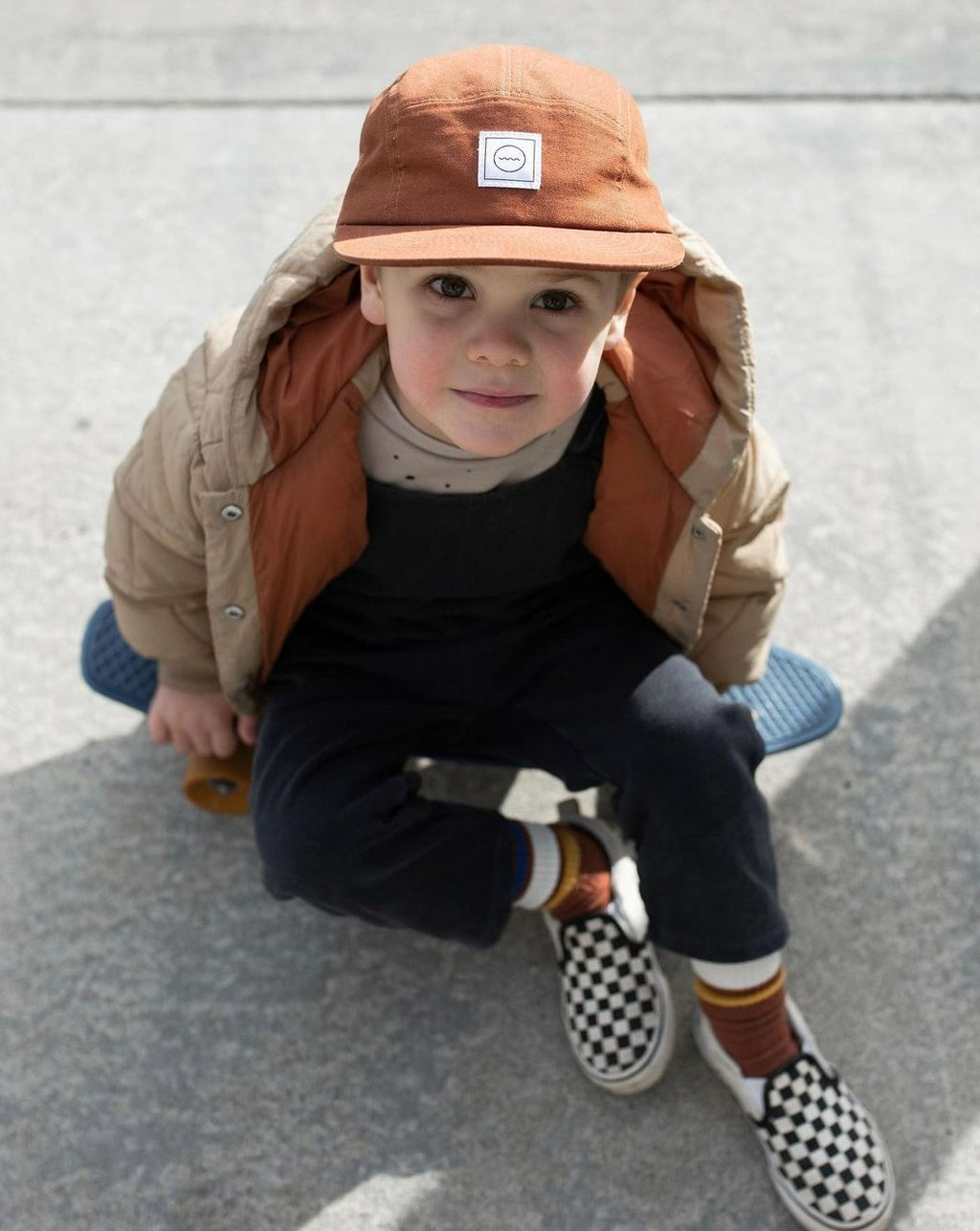 Panel Kids Hat  Rust  Rad River