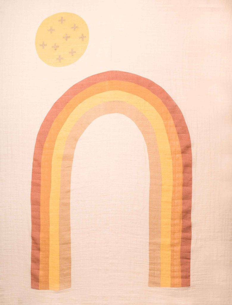 Organic Cotton Rainbow Baby Swaddles