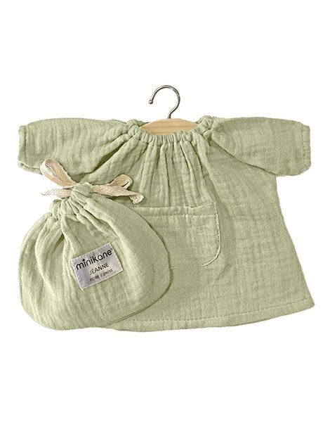 Jeanne double gauze cotton dress Pistachio