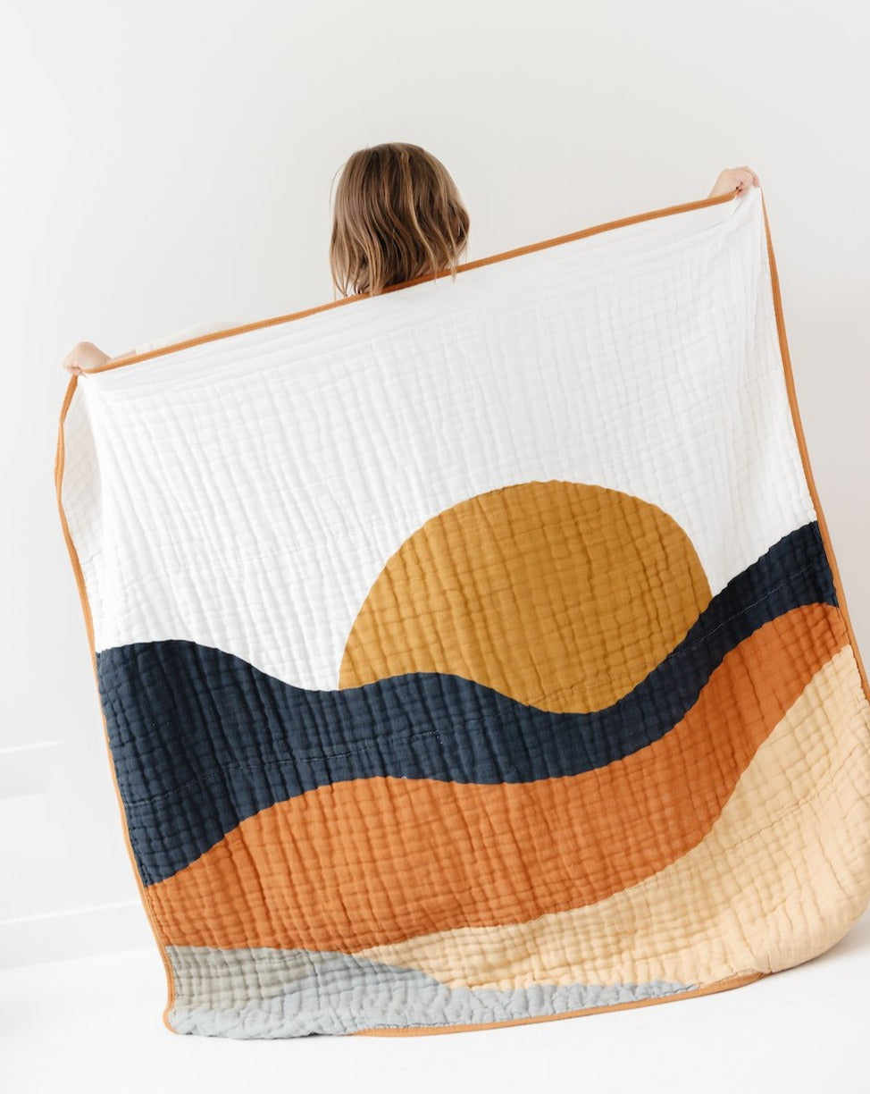 Sunset Quilt Babies and Toddlers Blankets clementine kids