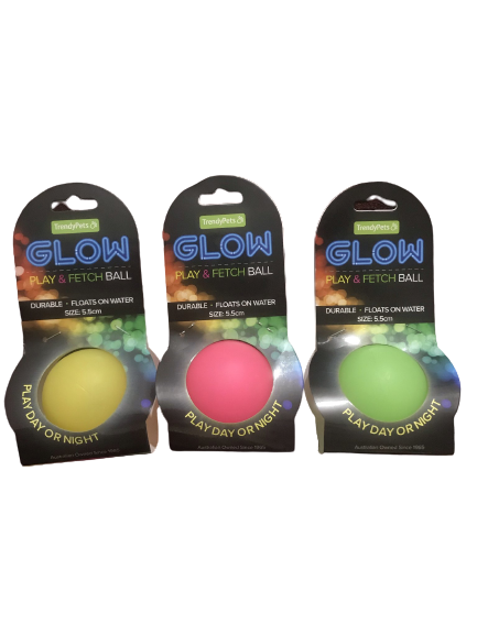 glow play and fetch ball day or night floats on water