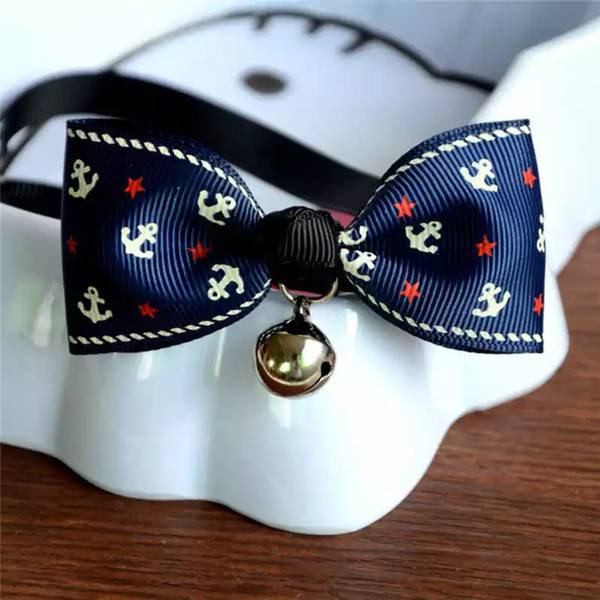 FASHION DOG OR CAT COLOURFUL PET BOW TIE WITH BELL - RED