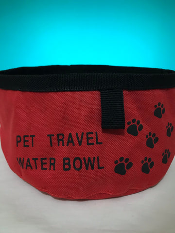 DOG PUPPY CAT PORTABLE TRAVEL WATER BOWL FOLDABLE PET FOOD BOWL COLLAPSIBLE