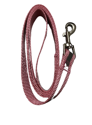 reflective pink dog lead with metal clasp pawesome world of pets