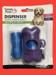 TRENDY PETS DISPENSER WITH WASTE BAGS