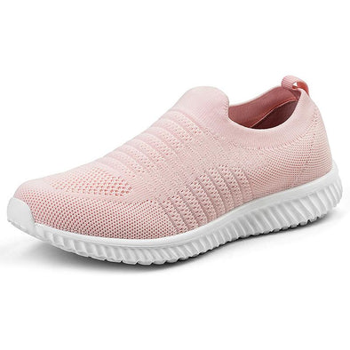 Akk Large Size Flexible Women's Slip-on Walking Shoes