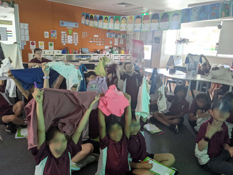 Students at Sydney public school attend workshop on sustainable clothing