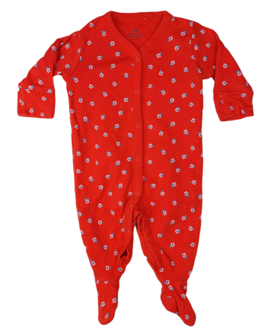 Preloved, Used, Secondhand, Babies, 0000, Next Baby, romper, Excellent, Red, Flower, Babies Size 0000, Baby