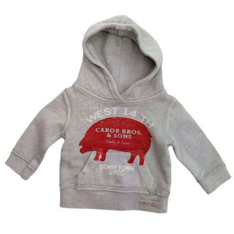 Pre-loved, Used, Secondhand, Babies, 000, Country Road, jumper, Excellent, Grey, Winter, Stylish, Babies Size 000
