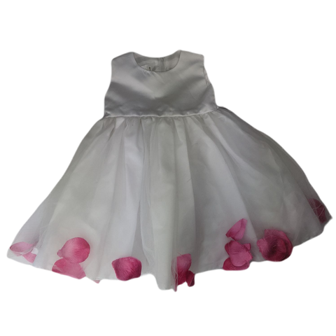 Pre-loved, Used, Secondhand, Babies, 00, Blue Sky, dress, Excellent, White, Party, Babies Size 00