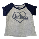 Pre-loved, Used, Secondhand, Babies, 00, OshKosh, t-shirt, Good, Blue, Essential, Daycare, Babies Size 00