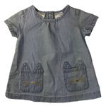 Pre-loved, Used, Secondhand, Babies, 00, OshKosh, top, Excellent, Blue, Denim, Essential, Babies Size 00