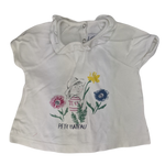 Pre-loved, Used, Secondhand, Babies, 00, Petit Bateau, top, Good, White, Summer, Babies Size 00