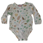 Pre-loved, Used, Secondhand, Babies, 000, Halcyon Nights, romper, Good, White, Summer, Animals, Babies Size 000