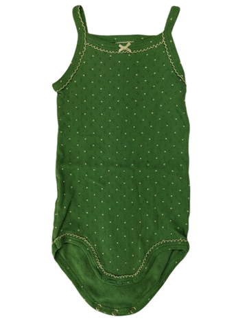 Pre-loved, Used, Secondhand, Babies, 000, Petit Bateau, romper, Excellent, Green, Summer, Essential, Babies Size 000