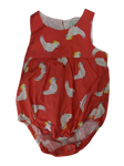 Pre-loved, Used, Secondhand, Babies, 00, Nura, romper, Excellent, Orange, Summer, Animals, Babies Size 00