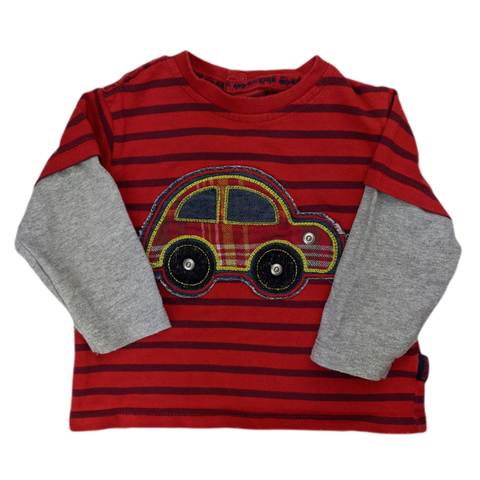 Pre-loved, Used, Secondhand, Babies, 00, M&S, t-shirt, Good, Red, Essential, Daycare, Autumn, Spring, Babies Size 00