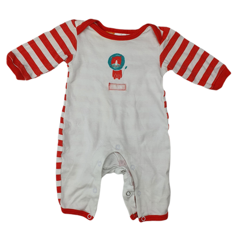Pre-loved, Used, Secondhand, Babies, 0000, Baby Patch, romper, Good, Red, Animals, Christmas, Babies Size 0000